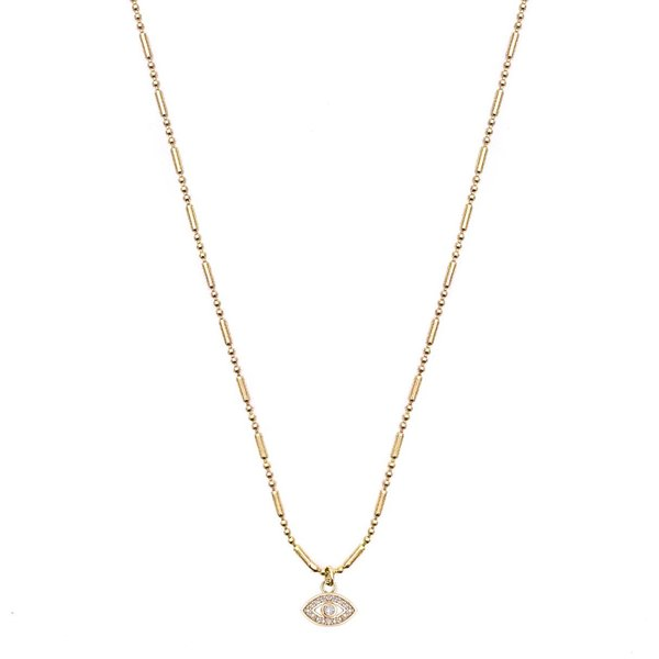 Mod + Jo Bright Eyed Pendant Necklace - Gold Filled