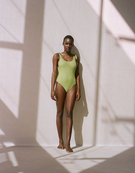Paloma Wool Lapiscine One Piece Swimsuit - Medium Green