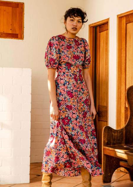 Penny Sage Marianne dress - pink liberty floral