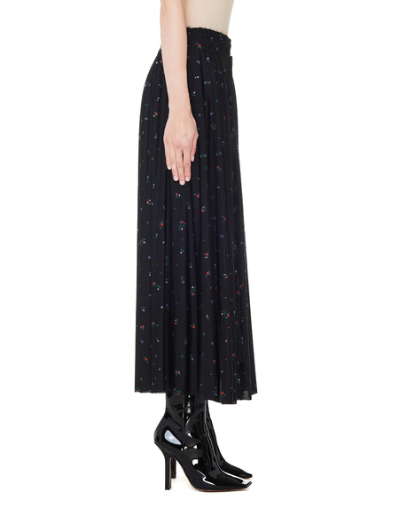 Vetements Reversible Flower Printed Skirt - black
