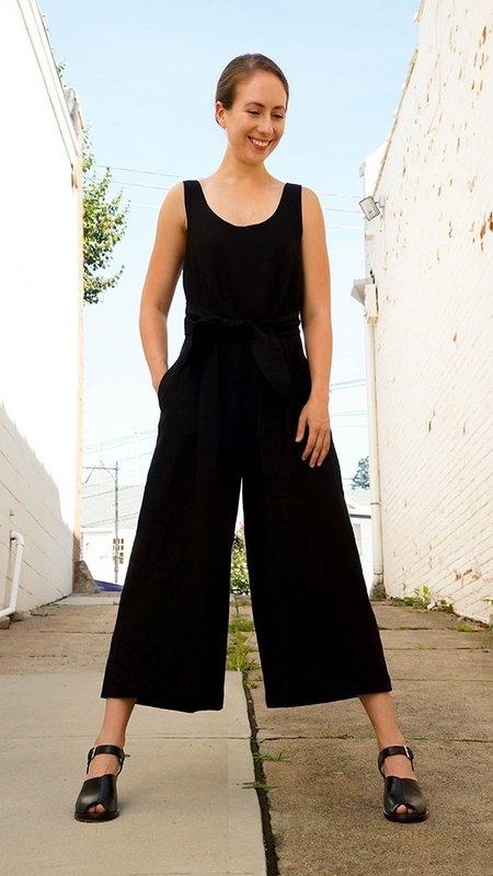 No.6 Linen Jumpsuit - Noir