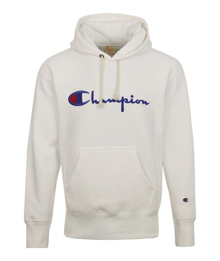 Champion Big Script Hooded Sweatshirt - White