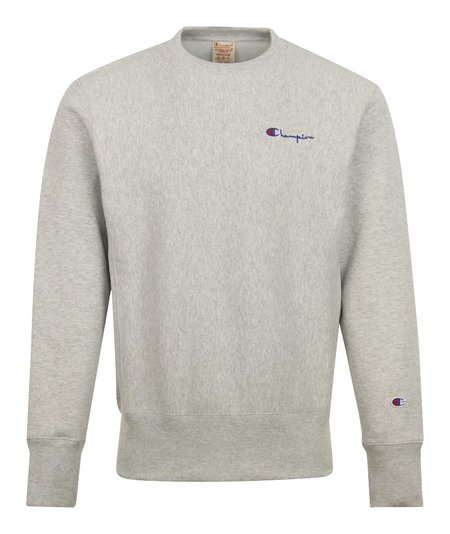 Champion Small Script Crewneck Sweatshirt - Grey