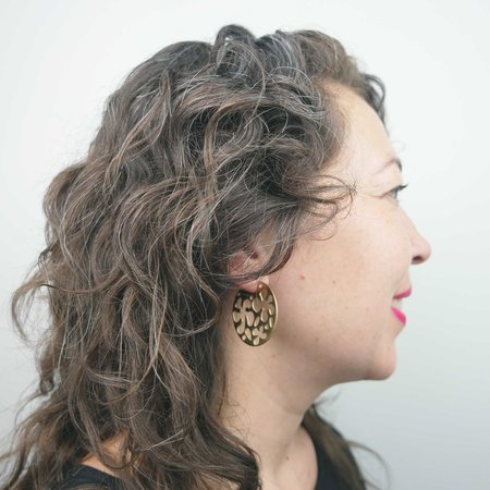Seaworthy Corrida Hoop Earrings -Brass