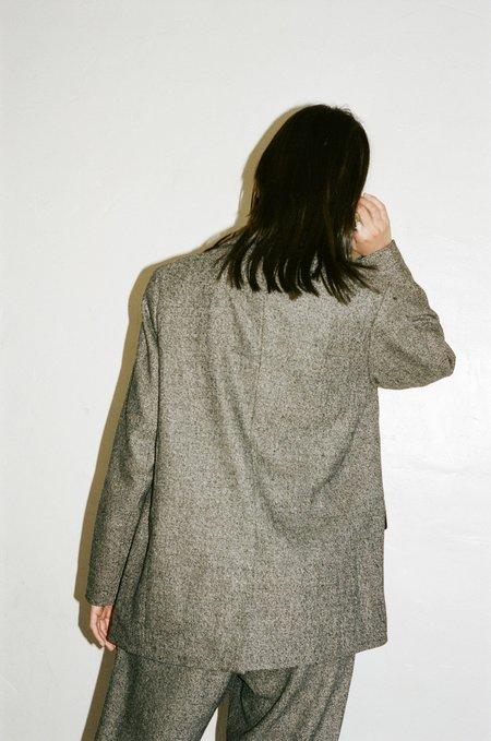 No.6 Leon Tweed Blazer - Charcoal