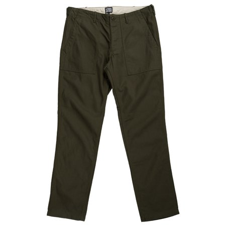 August Fifteenth Fatigue Trousers Back Twill - Olive