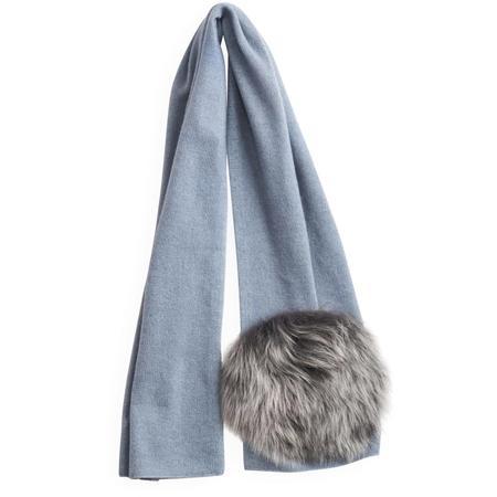 KIDS belle enfant scarf with shearling - soft blue