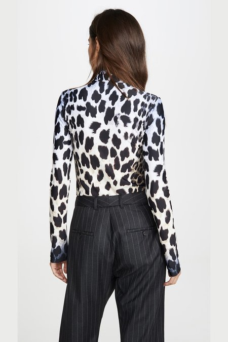 R13 TURTLENECK TOP - FADED LEOPARD