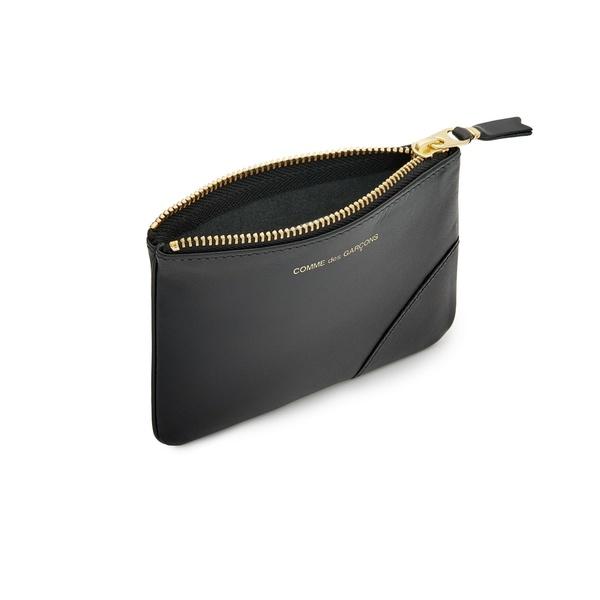 Comme Des Garçons Small Leather Zip Pouch - Black