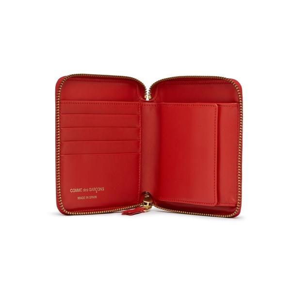Comme des Garçons Full Zip Medium Wallet - Polka Dot Red/White