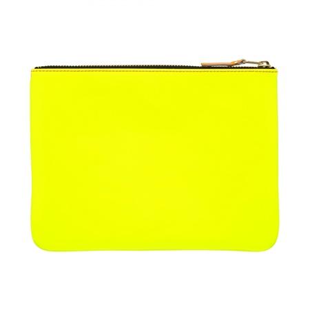 Comme des Garçons Large Pouch - Super Fluo Pink/Yellow