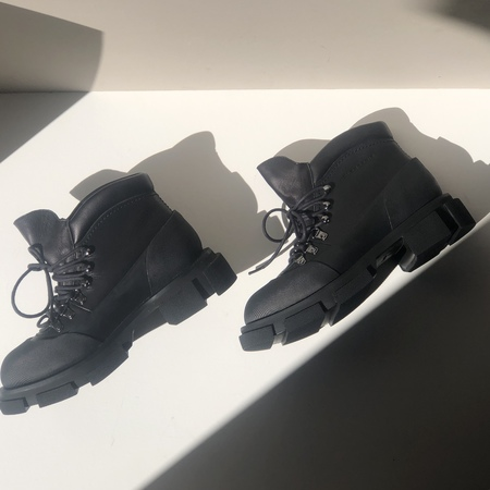Clergerie x Both Banco leather boots - Black