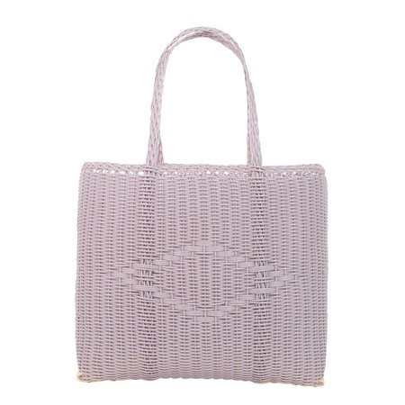 Palorosa Medium shopping bag from recycled plastic - lilac