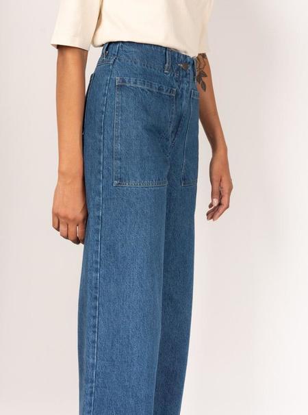 Kloke Interval Front Pocket Jeans - Mid-Wash Indigo