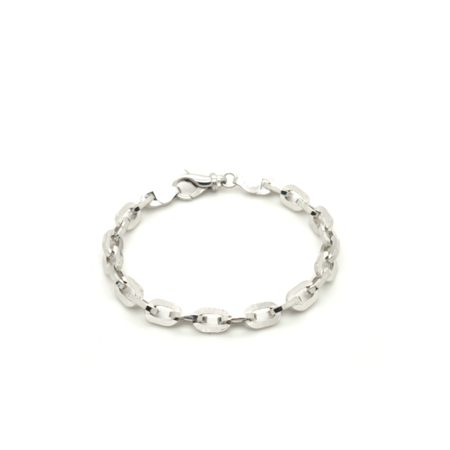 Youthful Peoples Box Chain Bracelet - Silver