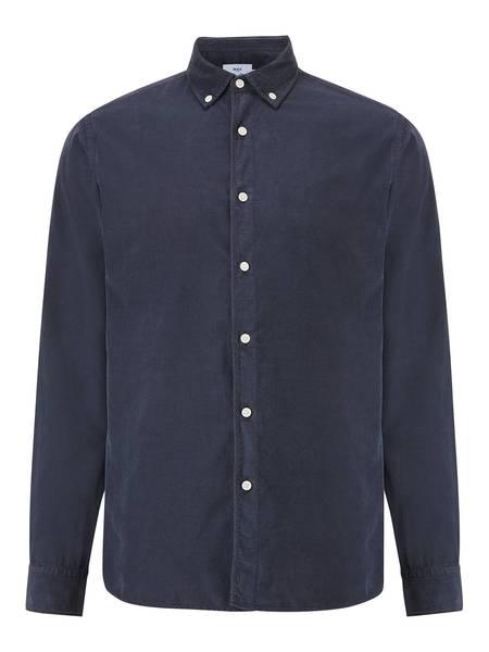 Wax London Bampton Corduroy Shirt - Deep Ocean