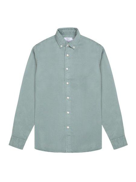 Wax London Bampton Tencel Shirt - Stormy Sea