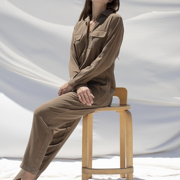 Ozma Long Sleeve Painter's Jumpsuit