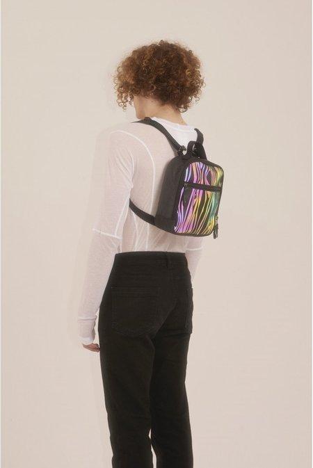 Julian Zigerli x QWSTION Wood Mini Bag - Reflective Rainbow