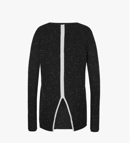 Duffy V-Neck Cashmere Sweater - Tuxedo w/Grey Stripe