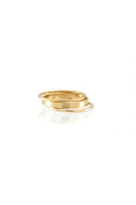 Jurate Brown Endless Love Ring Set - Gold