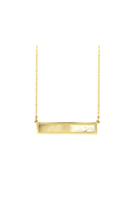 Jurate Brown Lady Love Necklace - Gold
