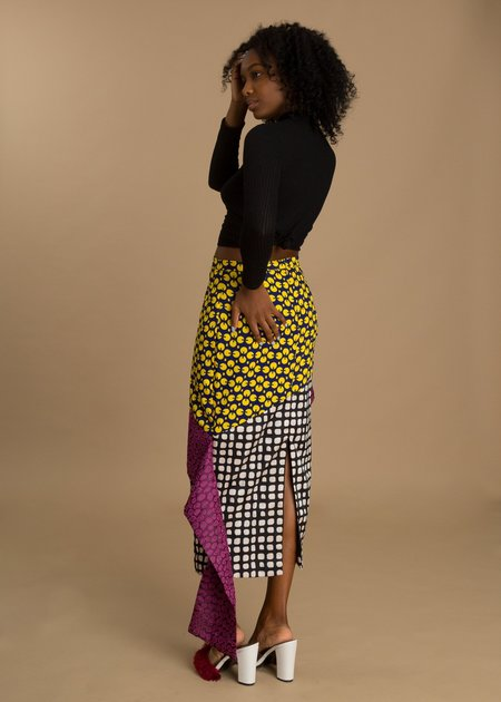 Fruché Combo Printed Skirt