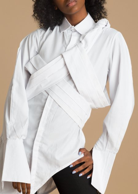 Fruche Osagie Shirt Dress - white