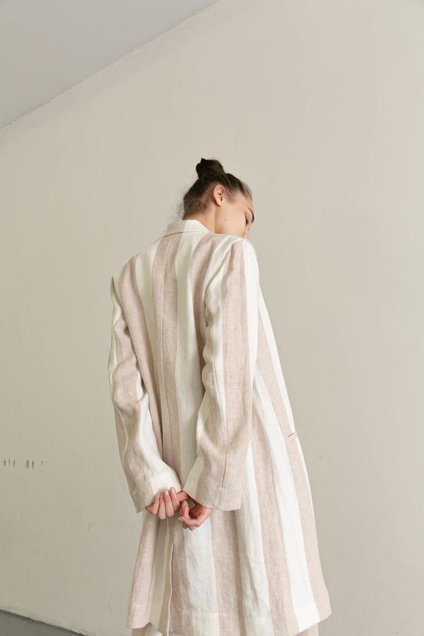 MARA HOFFMAN BIA JACKET - CREAM/KHAKI