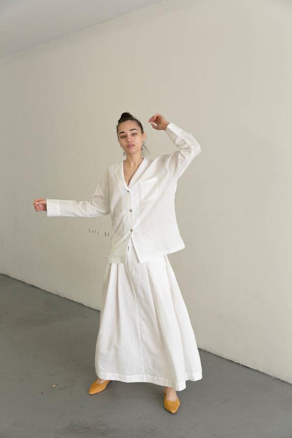 MARA HOFFMAN TULAY SKIRT - WHITE