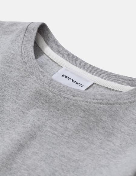 Norse Projects Niels Standard Long Sleeve T-Shirt - Light Grey Melange