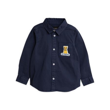KIDS mini rodini cat campus woven shirt - navy
