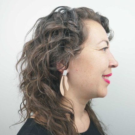Natalie Joy Palm Earrings - Silly Putty/Silver