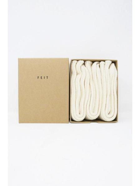 Feit 3-Pack Wool Long Socks - Natural