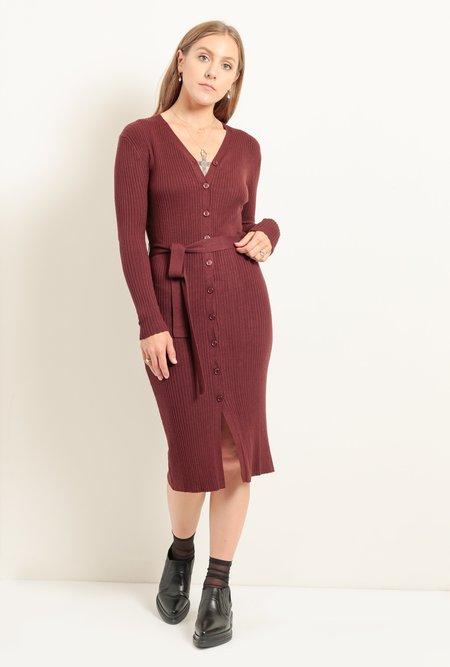 Azalea Corinth Sweater Dress - Burgundy