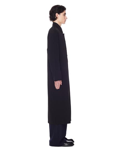 Yohji Yamamoto Collarless Long Shirt - Black