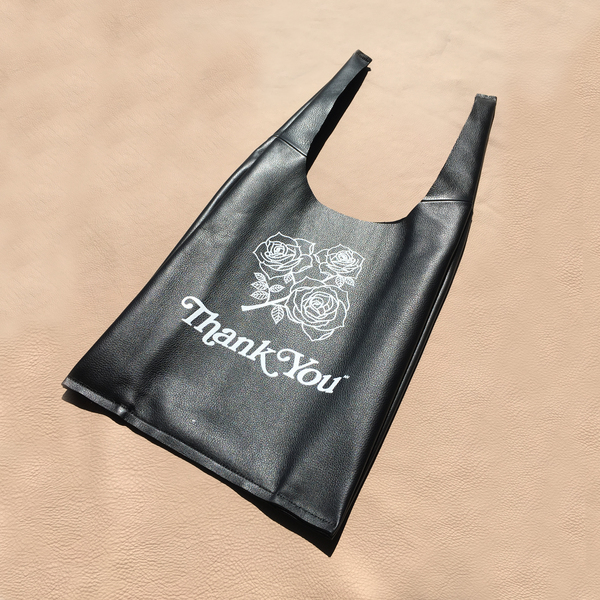 AW by Andrea Wong ROSES LEATHER GRATITUDE BAG - BLACK