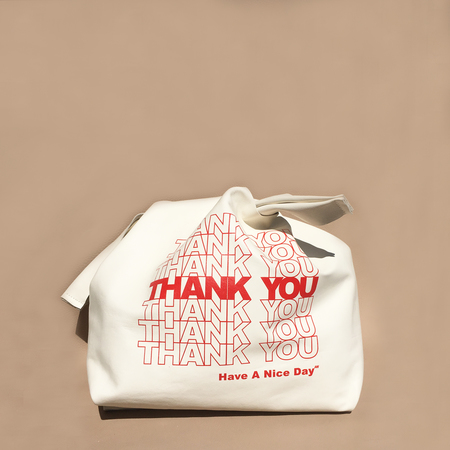 AW by Andrea Wong STACKED THANK YOU GRATITUDE BAG - STONE LEATHER