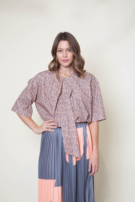 A Détacher Thoren Blouse - Peach/Grey