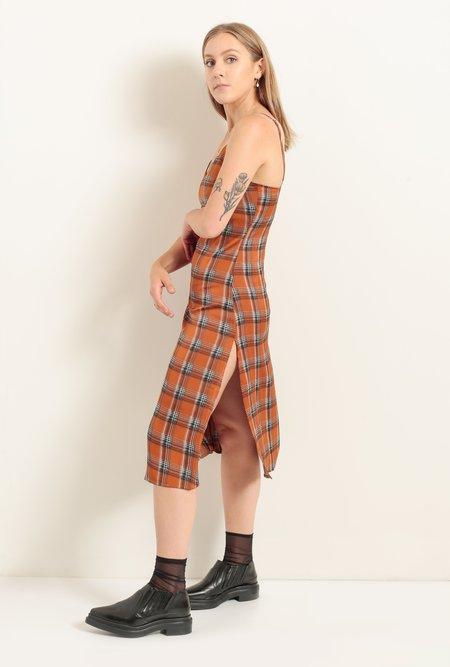 Azalea Becky Plaid Mini Dress - Spice