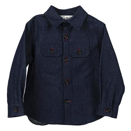 Kids Hopper Hunter By 18 Waits Weekender Jacket - Raw Denim Indigo Blue