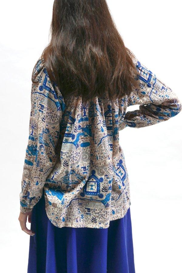Matta NY Bheeti Folk Blouse - Turquoise