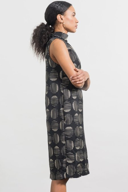 Jennifer Glasgow Athena Dress - Black/Ivory Print
