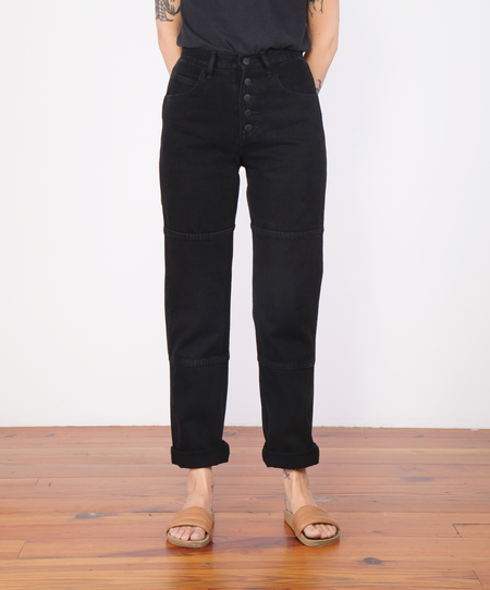 Carleen One Tone Jeans - Washed Black