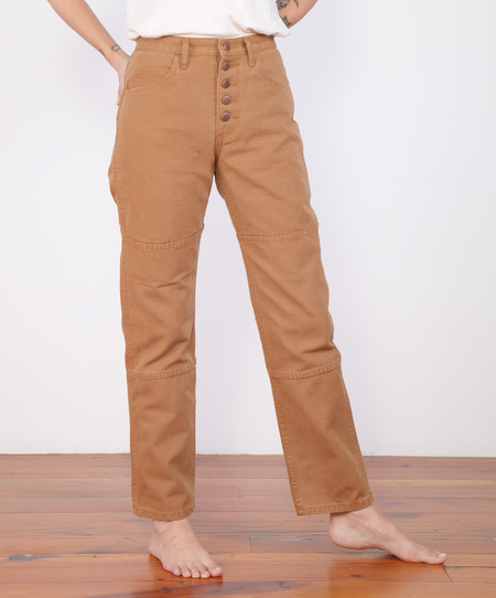 Carleen One Tone Jeans - Wheat