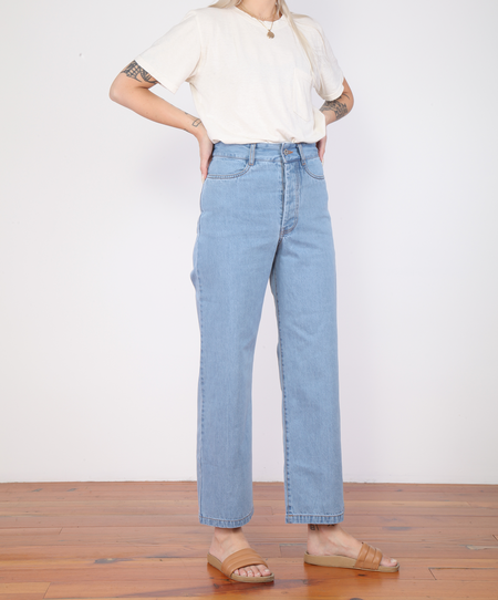 Kowtow Linear Jeans - Pale Blue