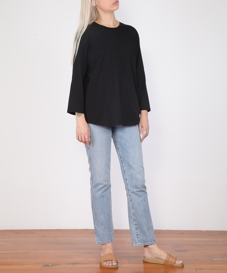 Kowtow Scoop Hem Top - Black