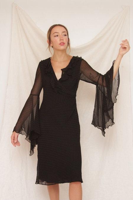 Vintage Sheer Bell Sleeve Dress