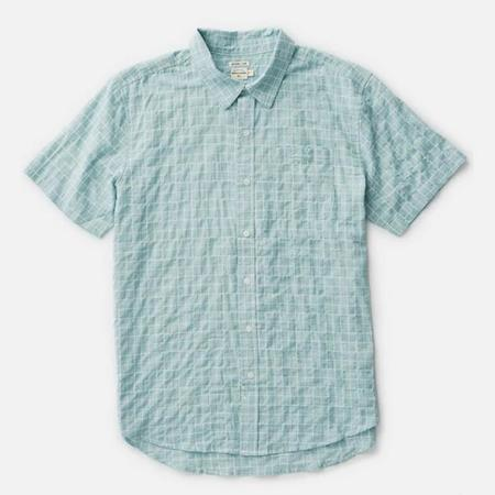 Bridge & Burn Harbor Shirt - Palm Windowpane