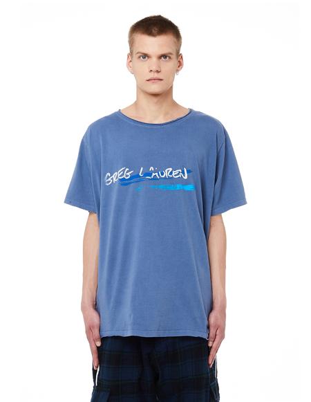Greg Lauren Classic GL Printed Cotton T-Shirt